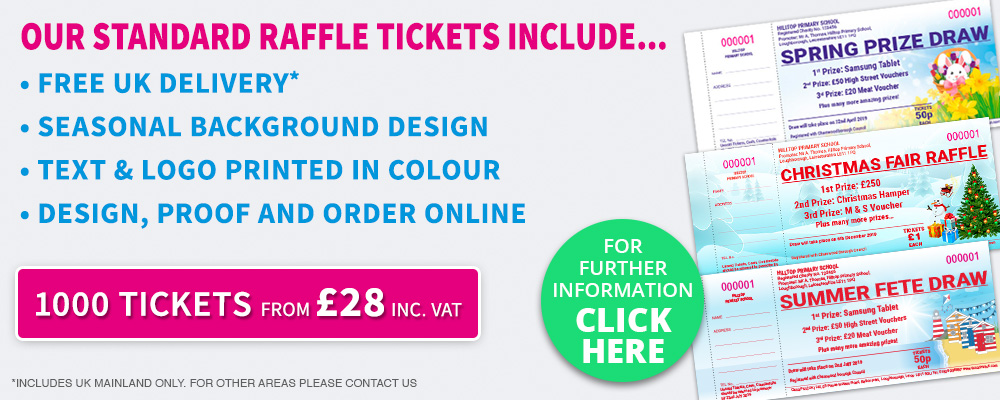 Printed seasonal raffle tickets