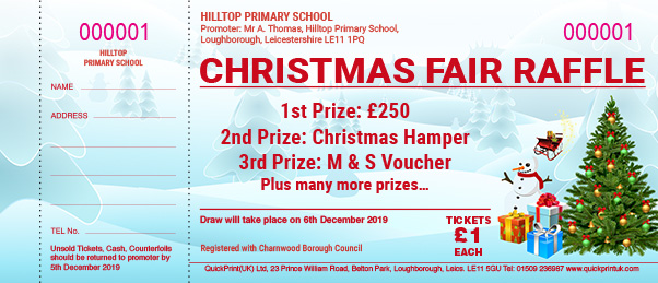 Christmas Raffle Ticket Design