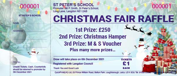 Christmas Raffle Ticket Design